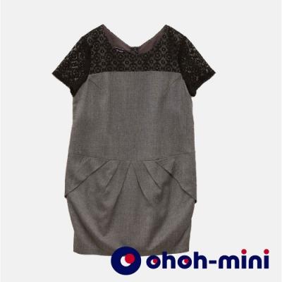 【ohoh-mini孕婦裝】典雅氣質蕾絲孕婦洋裝