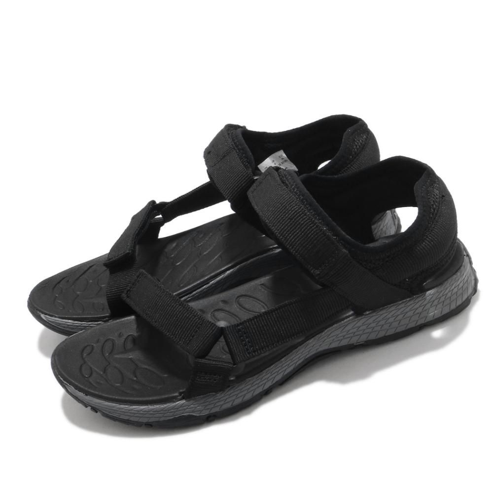 Merrell 涼鞋 Kahuna Web 魔鬼氈 夏日必備 童鞋 避震 耐磨 抓地 透氣 中大童 黑 灰 MK264496