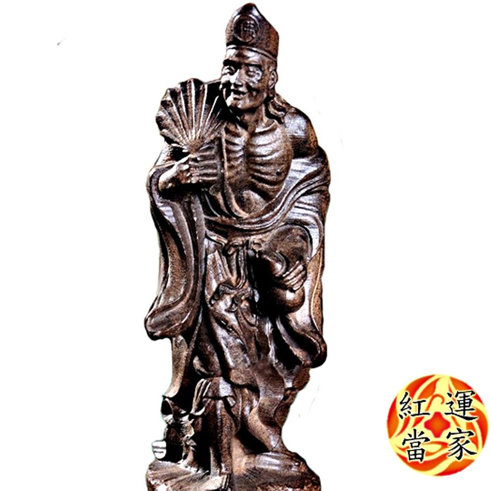 紅運當家 越南沉香木雕佛像  濟公活佛(高29.5公分)