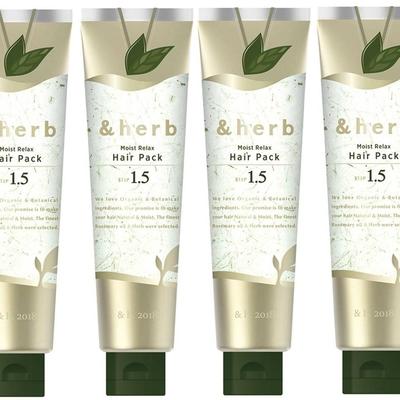 日本&herb 植萃頭皮舒活spa髮膜1.5 (130g) 四入超值組