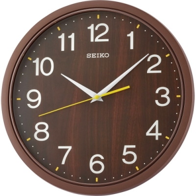SEIKO 日本精工 滑動式秒針 時鐘(QXA757B)咖啡/35cm
