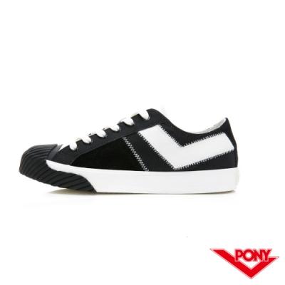 【PONY】Shooter系列 雙色潮流百搭餅乾鞋 帆布鞋 休閒鞋 男鞋 黑色