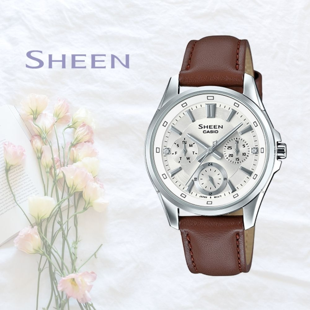CASIO卡西歐 簡約皮帶腕錶(SHE-3060L-7A)
