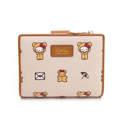 Hello Kitty聯名- 短夾 SPOIL / 熊愛你系列-咖色