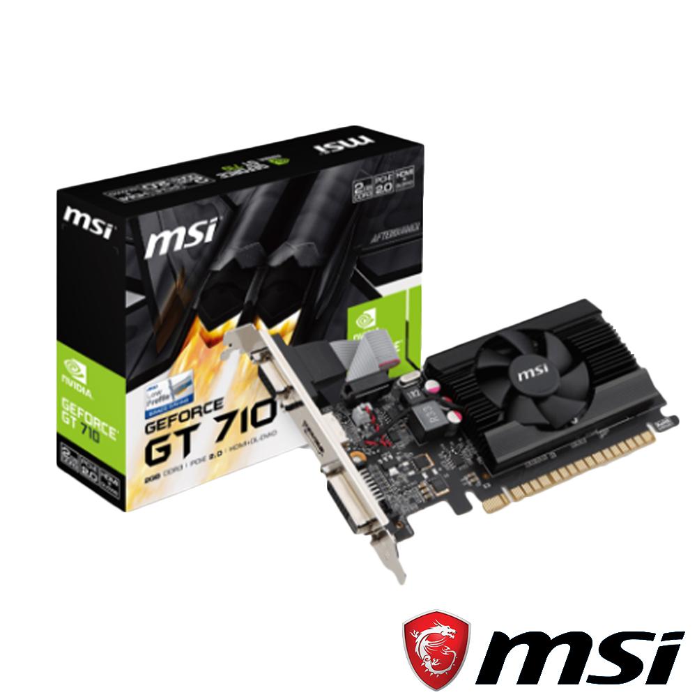 MSI微星 GT 710 2GD3 LP 顯示卡
