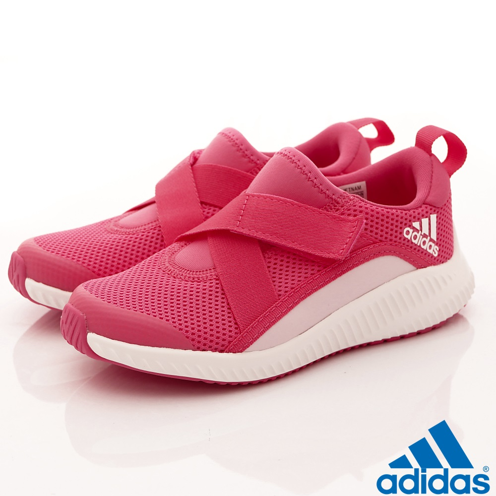 adidas童鞋 針織輕量運動鞋 TW449桃(中大童段)