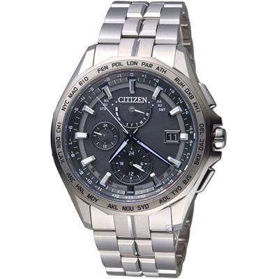 CITIZEN 星際效應電波鈦金屬腕錶(AT9091-51H)42mm
