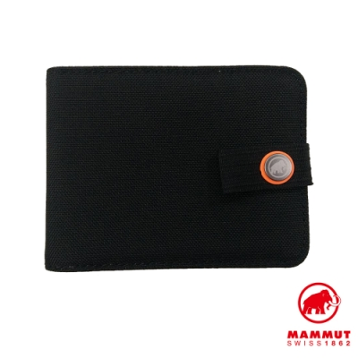 【Mammut】Xeron Wallet 經典休閒夾扣短夾 黑色 #2810-00190
