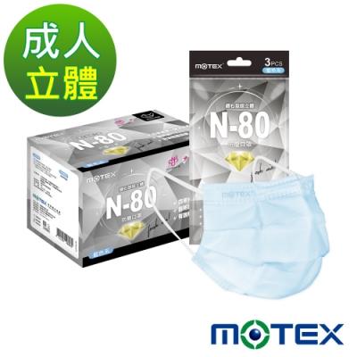 [限搶]MOTEX摩戴舒 台灣N80口罩 30片 (盒裝)
