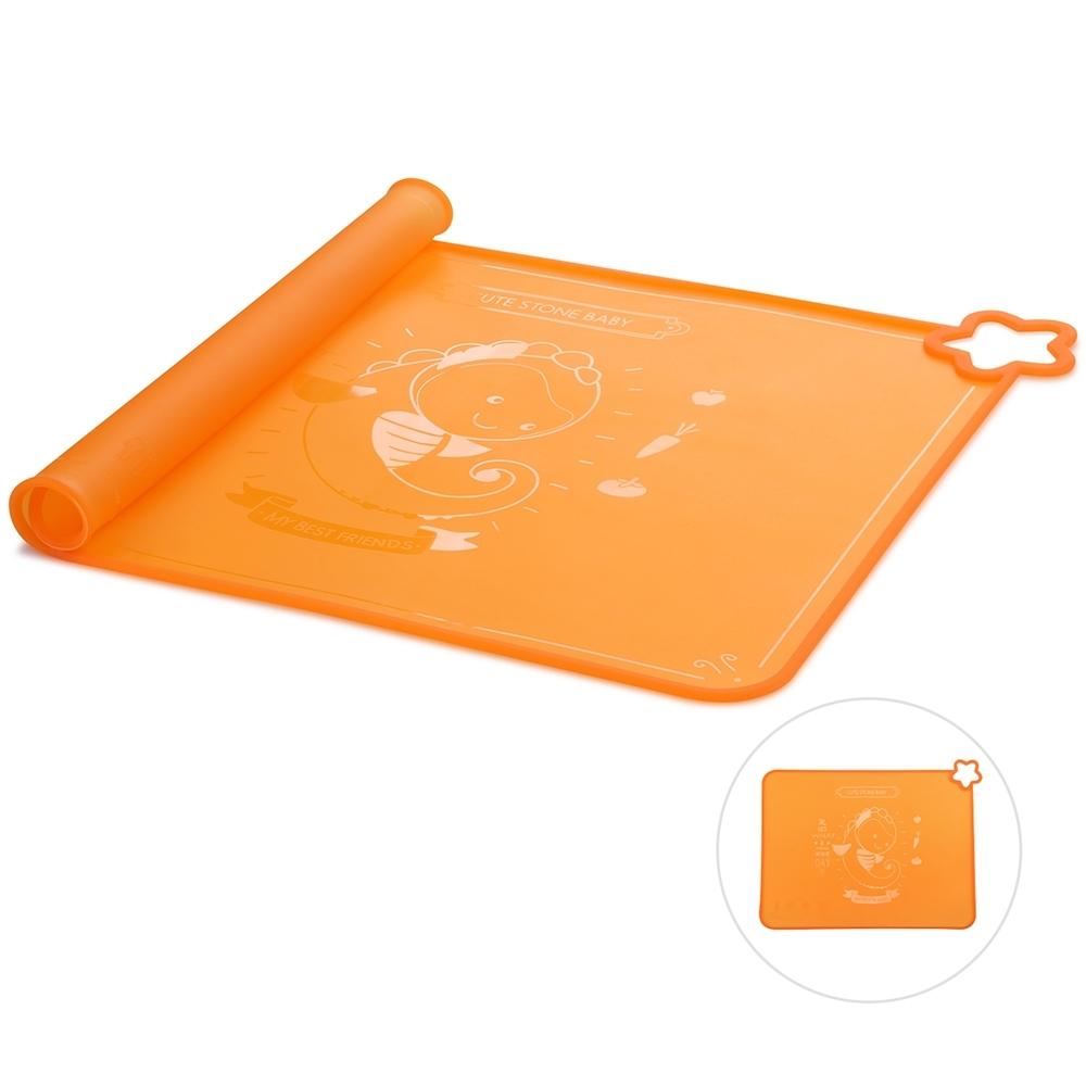 CuteStone 矽膠餐墊-橘色