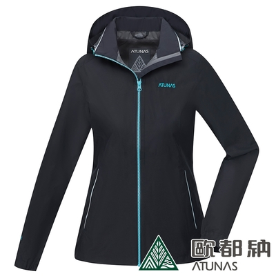 【ATUNAS 歐都納】女款GORE-TEX PACLITE單件式外套A1GTCC04W黑/防水防風/輕量透氣/大尺碼