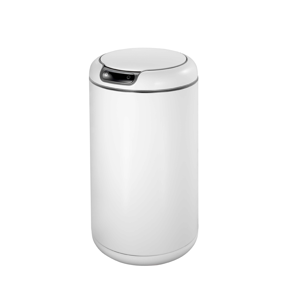 EKO蓋樂自動感應垃圾桶-12L高光白
