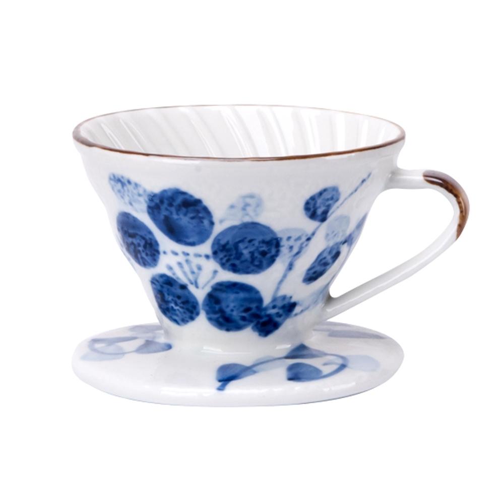 Tiamo V01日式手繪陶瓷咖啡濾器-蘭藤花(HG5548E)