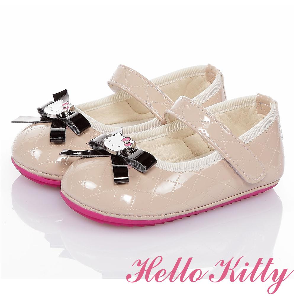 HelloKitty童鞋 氣質手工款高級超纖皮減壓寶寶學步鞋-米
