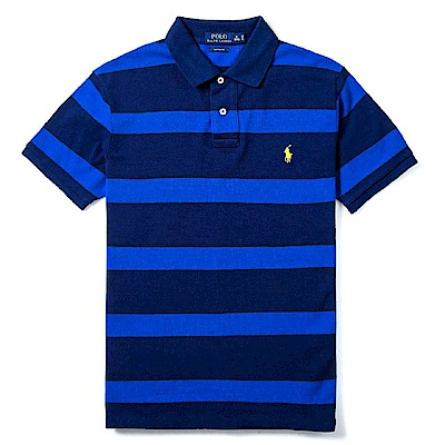 Polo Rlaph Lauren 經典小馬條紋Polo衫(Custom)-深藍色