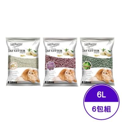 LOVE SAND莉莎-凝結豆腐環保砂系列 6L(2.8KG) (6包組)