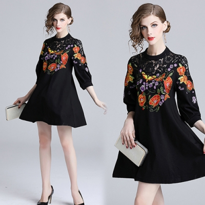 【KEITH-WILL】花漾典藏系列刺繡洋裝