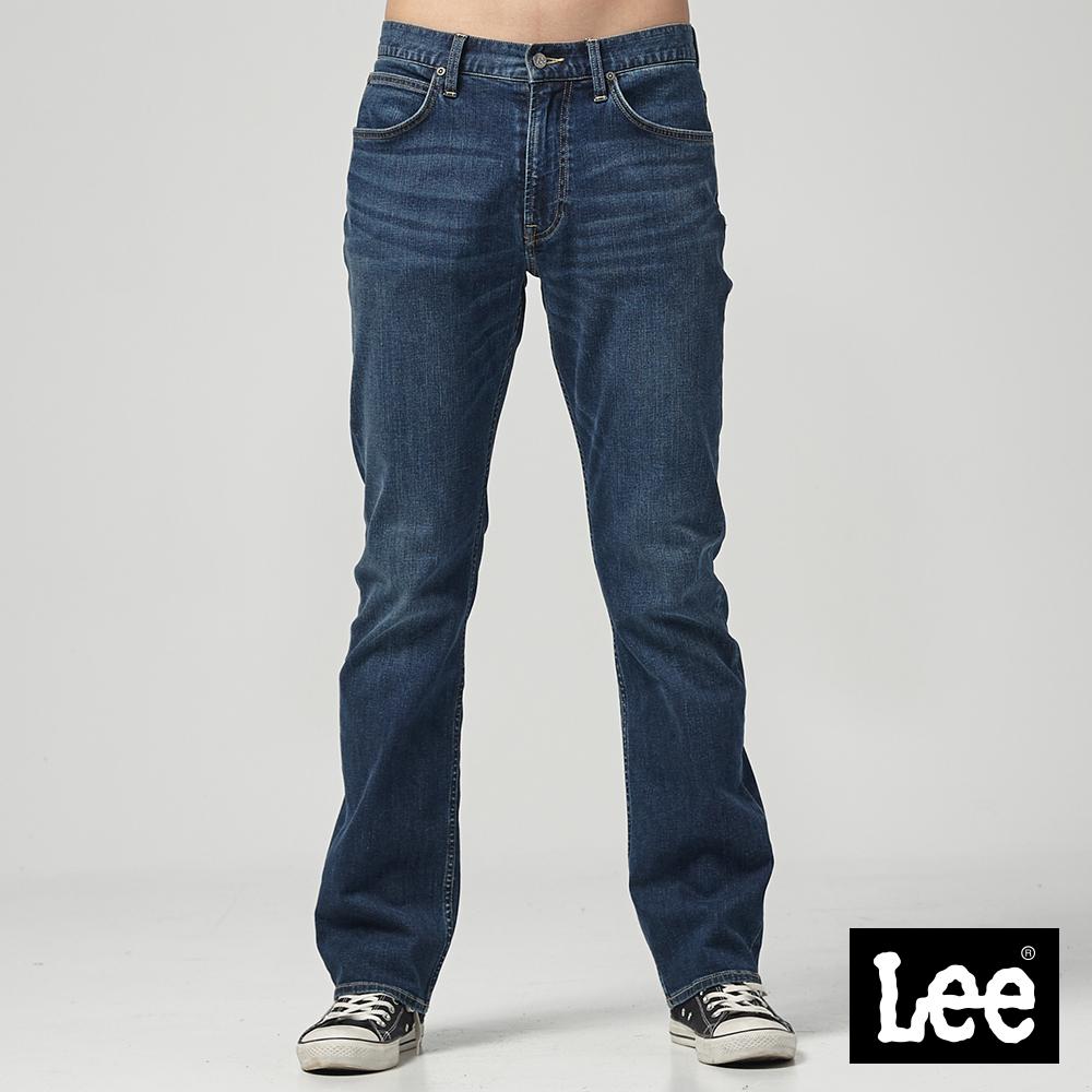 Lee 中腰舒適直筒牛仔褲-中藍
