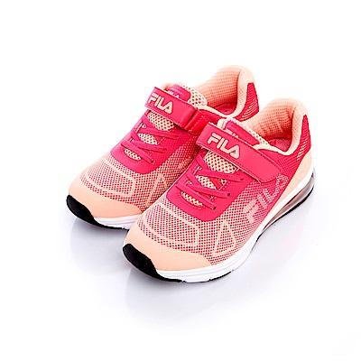 FILA KIDS大童氣墊MD慢跑鞋-粉桃 3-J407S-525