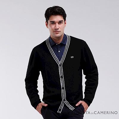 ROBERTA諾貝達 台灣製 商務型男 純美麗諾羊毛衣 黑