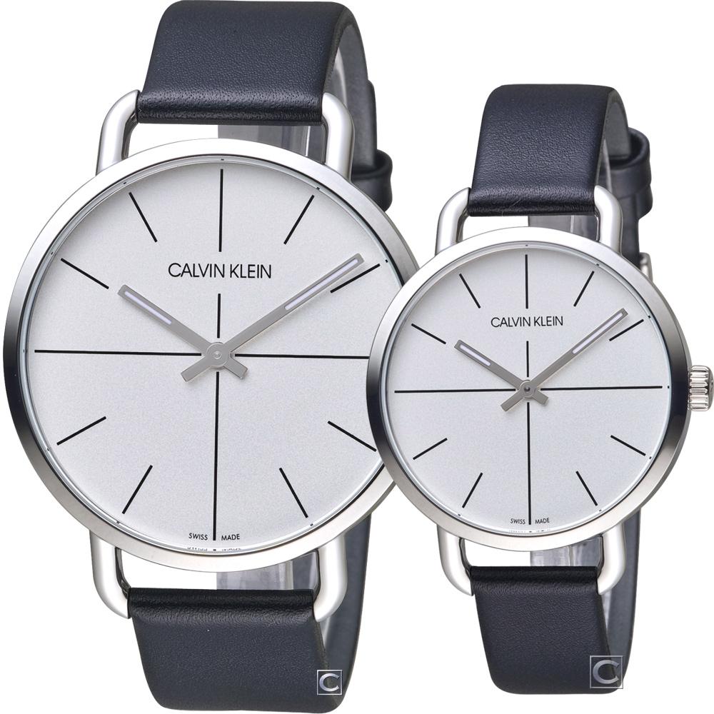 Calvin Klein even 超然時尚對錶(K7B211CY+K7B231CY)