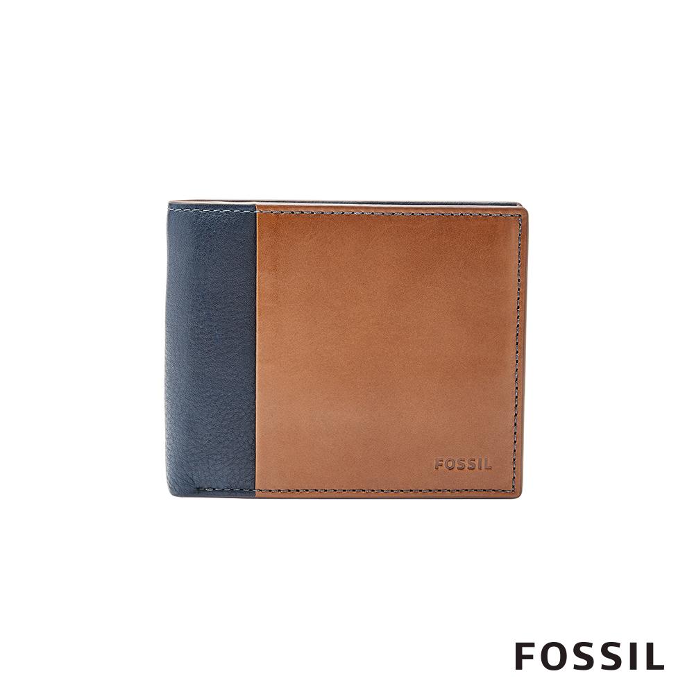 FOSSIL WARD 真皮 RFID男夾-撞色 ML3919400