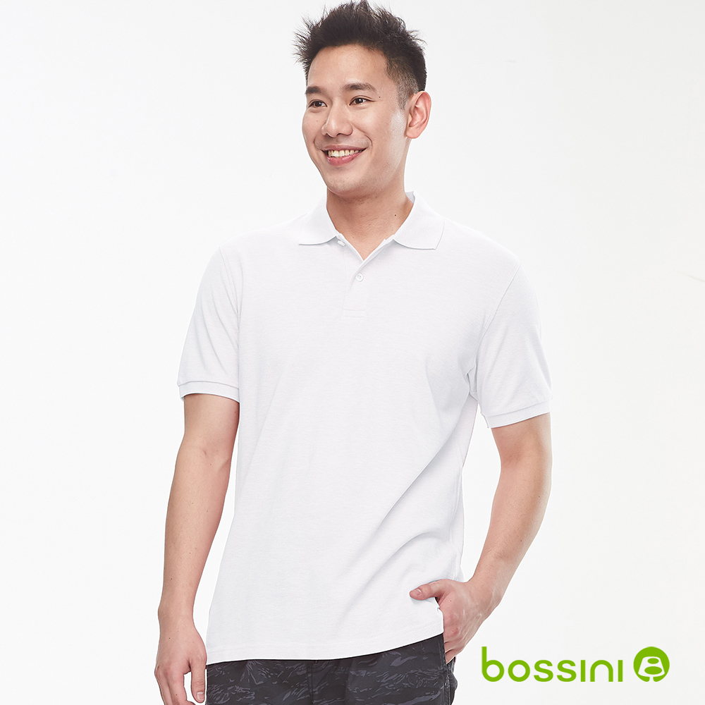 bossini男裝-純棉素色POLO衫19白