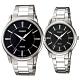 CASIO 簡約時刻不鏽鋼對錶-黑面(MTP-1303D-1A+LTP-1303D-1A) product thumbnail 1