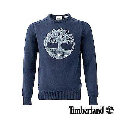 Timberland男款藍色Browns River LOGO圓領運動衫|A1NPW