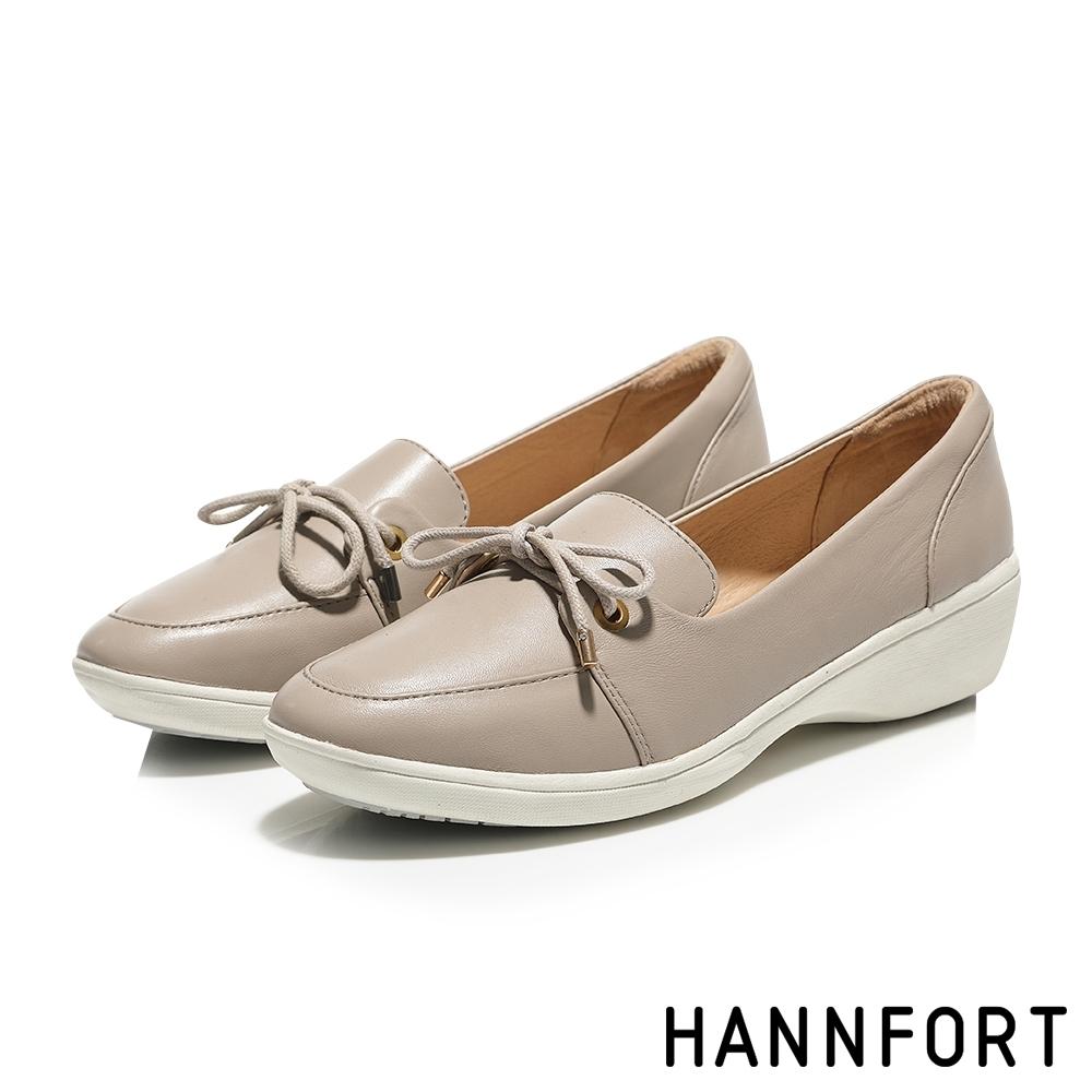 零碼出清 HANNFORT H-COMF 休閒鞋 女鞋 米白