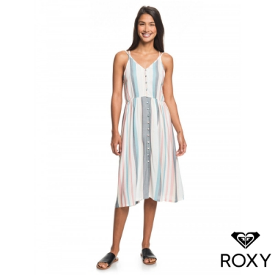 【ROXY】MY WAY TO COAST STRIPE 洋裝 白