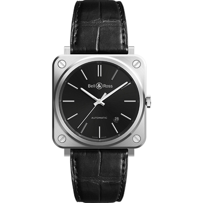 Bell & Ross 經典時尚飛行械機腕錶 BRS92-BLC-ST/SCR-黑/39mm