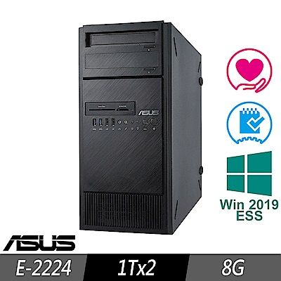 ASUS TS100-E10 伺服器 E-2224/8G/1TBx2/2019ESS