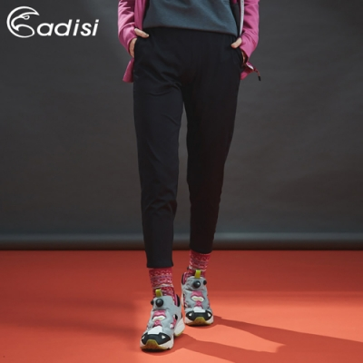 ADISI 女彈性保暖修飾褲AP1821109 (S-2XL) 黑色