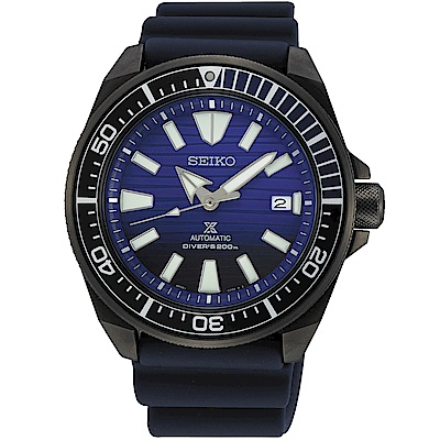 SEIKO 精工PROSPEX 愛海洋潛水200米機械錶(SRPD09J1)-藍/44mm