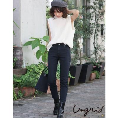 Ungrid 經典牛仔系列 - 純黑高腰修身褲