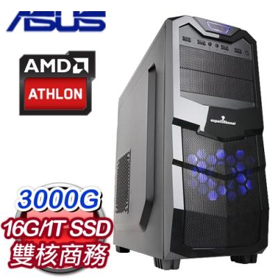 華碩 文書系列【暗渡陳倉】AMD 3000G雙核 商務電腦