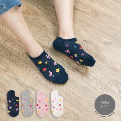 阿華有事嗎 韓國襪子 繽紛夏日風短襪 韓妞必備短襪 正韓百搭卡通襪