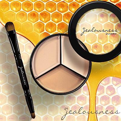 Jealousness婕洛妮絲 完美三色遮瑕盤21g-EX蜂蠟版 盒內附贈專業遮瑕刷
