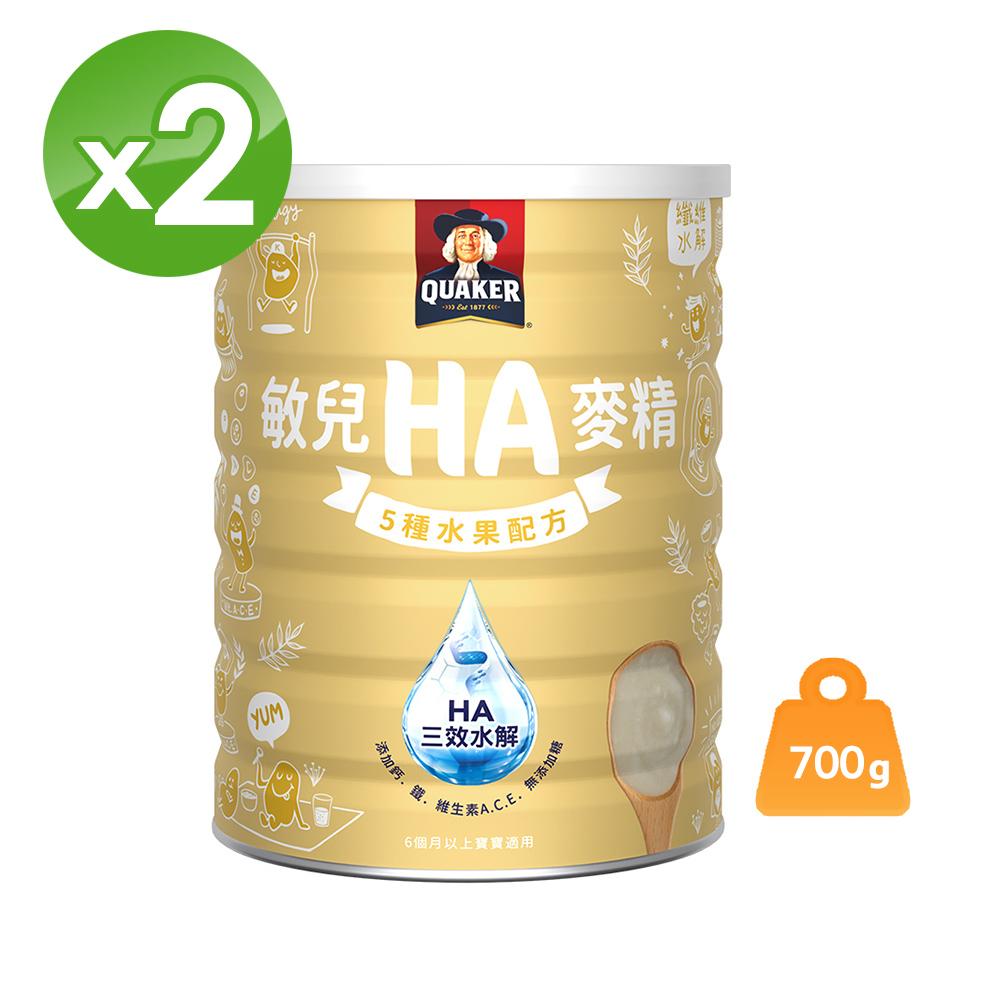 桂格 敏兒HA五種水果麥精(700gx2罐)
