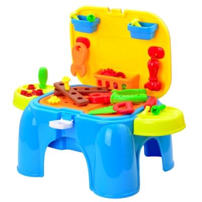 《Deluxe Tool Set》幼兒益智發展DIY手提收納式椅子工作台