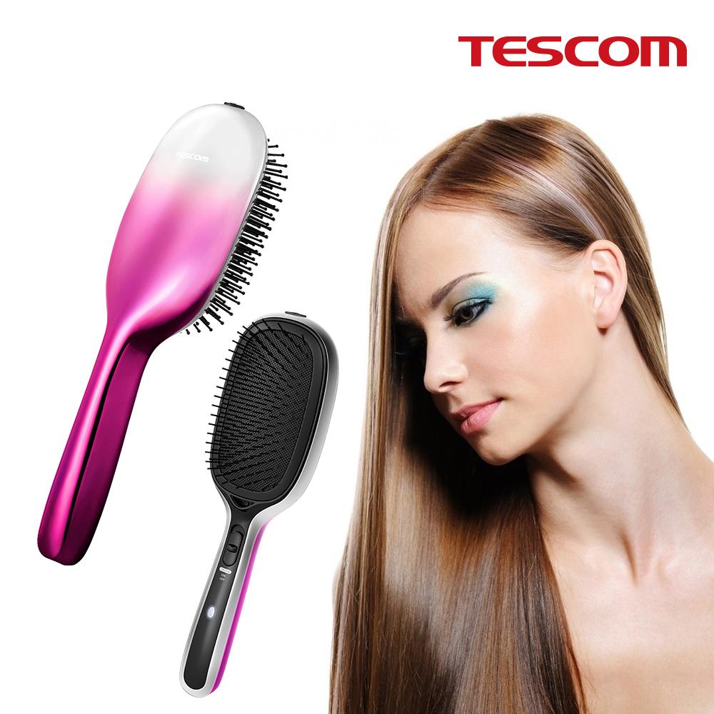 TESCOM 負離子音波振動髮梳TIB20TW (粉色)