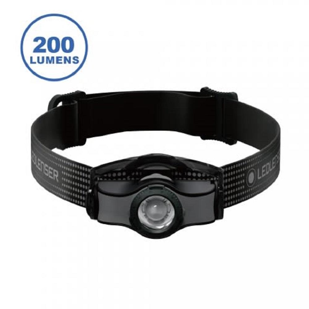 LED LENSER MH3 專業伸縮調焦頭燈 200流明 黑 登山露營入門推薦款