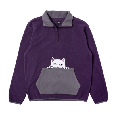 RIPNDIP PEEK A NERMAL BRUSHED ZIP SWEATER 大學T