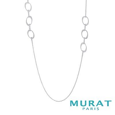 MURAT Paris 法國輕珠寶 典雅鏤空橢圓長項鍊