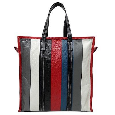 BALENCIAGA BAZAR SHOPPER 牛皮紅黑藍直式購物包