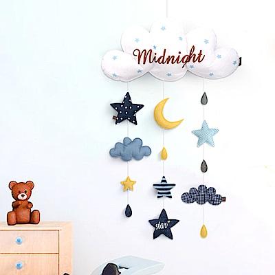 布料壁掛裝飾 雲朵氣球星星床鈴壁飾 掛件-成品