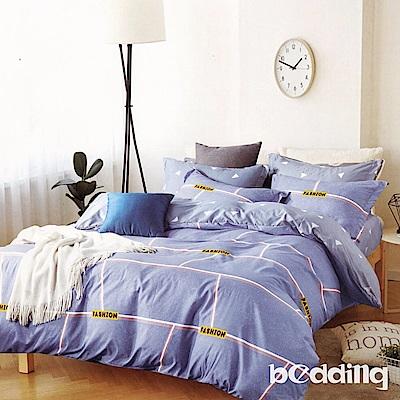 BEDDING-活性印染6尺雙人加大薄床包三件組-迷宮