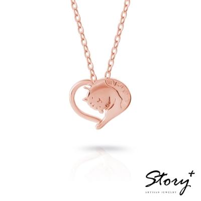 STORY故事銀飾-貓小姐系列-最愛妳純銀貓項鍊