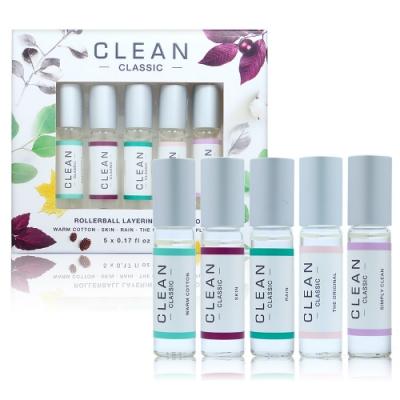 CLEAN CLASSIC 經典滾珠小香組 5x5ML (溫暖棉花,雨後花園,肌膚之親,清新同名,Simply Clean)